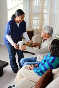 Seniors receiving in-home care